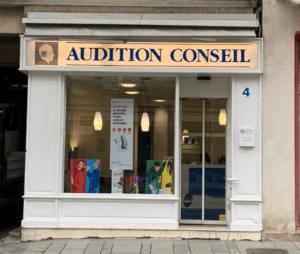 devanture du centre audition conseil cornuau à Orléans