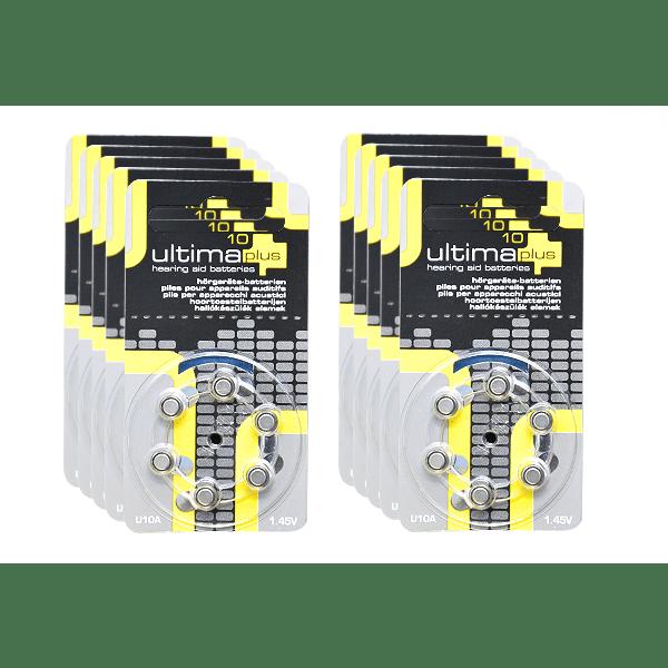 Piles ultima plus 10 pack x10 appareil auditif
