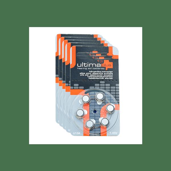 Piles ultima plus 13 pack x5 appareil auditif