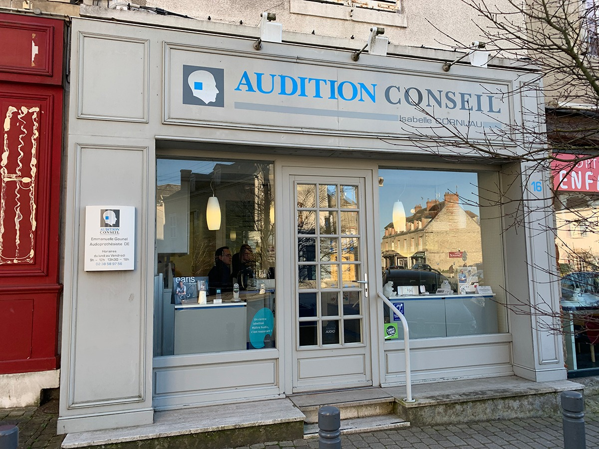 devanture du centre audition conseil à châteauneuf-sur-loire