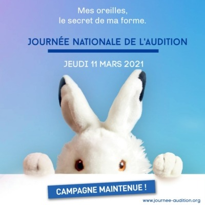affiche de la journée nationale de l'audition 2021